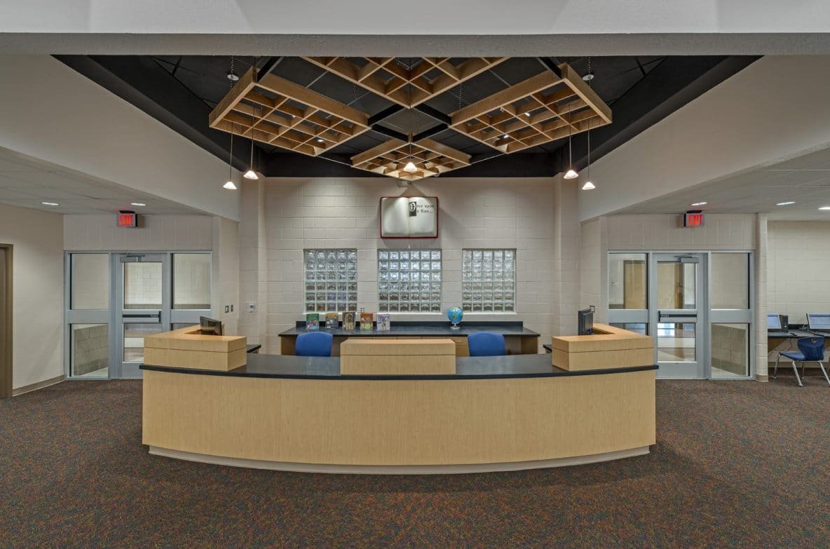 Elementary School Library Reception Interior Design