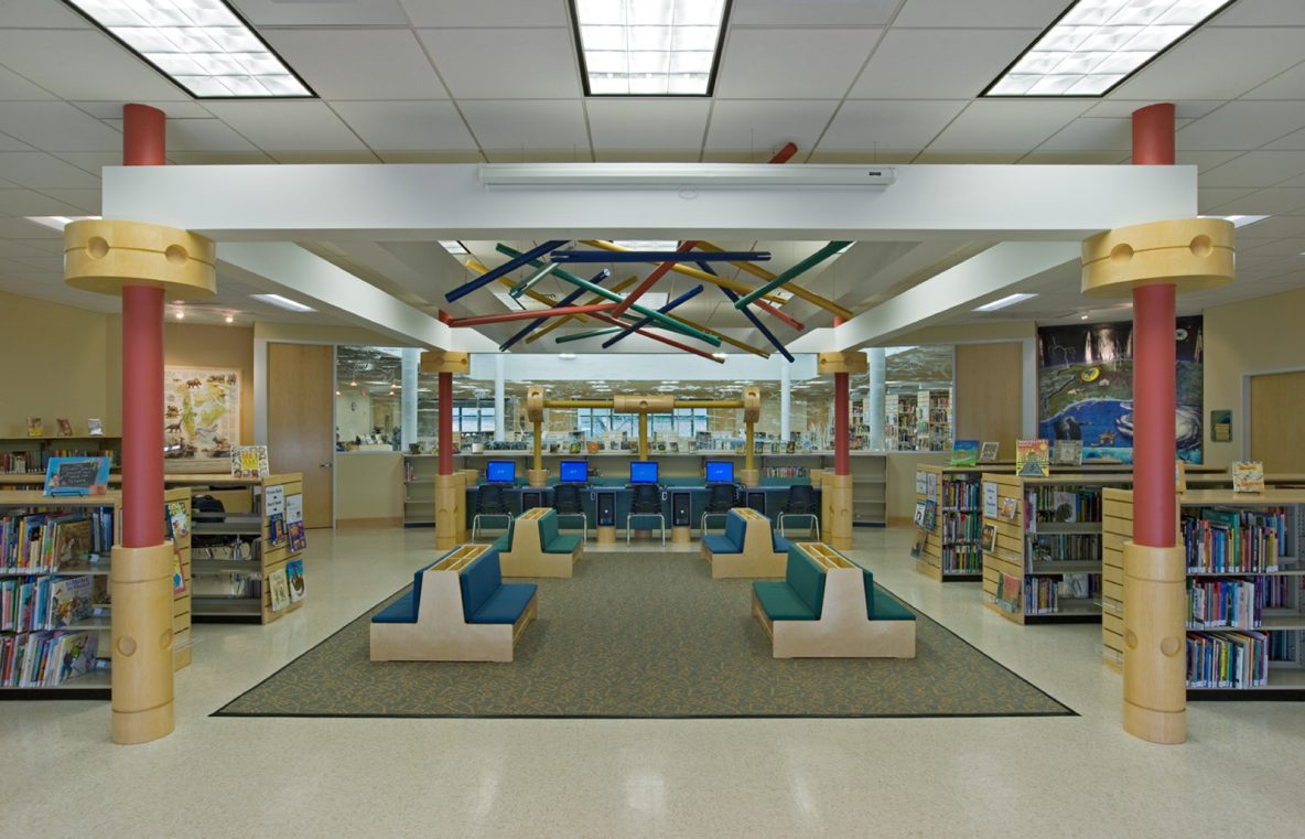 Public Middle School Library Interior Design